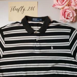 [Polo Ralph Lauren] Striped Polo Shirt - Vintage